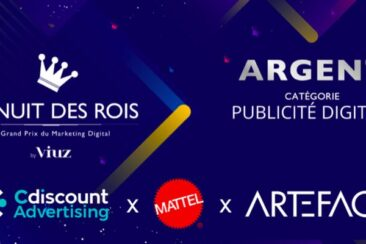 Artefact wins the silver trophy in the digital advertising category with Mattel, Inc. and Cdiscount Advertising!